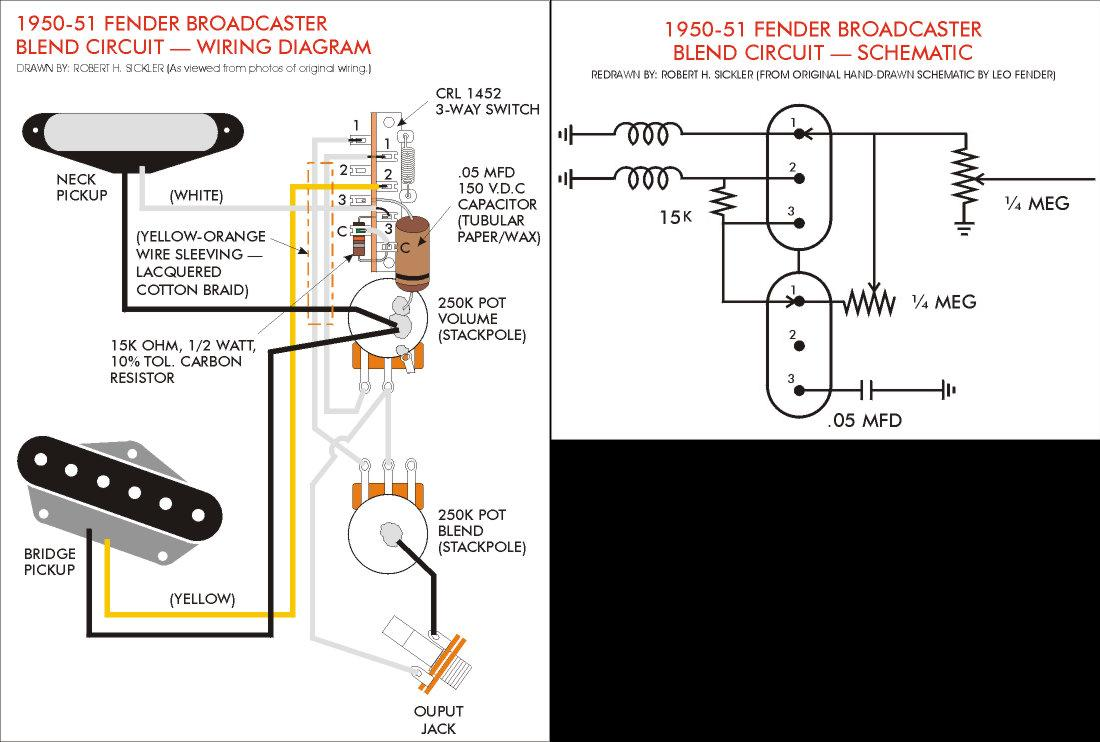Three Pot B Wiring Diagram Diy Enthusiasts Diagrams Guitar Wire Size Further Fender Problems On Rh Mrguitar Co Blend