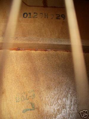 sears kay guitar serial number
